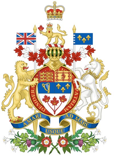 Queen Elizabeth II Coat of Arms for Canada