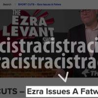 Canadaland podcast issues a racist headline: Ezra Issues A Fatwa