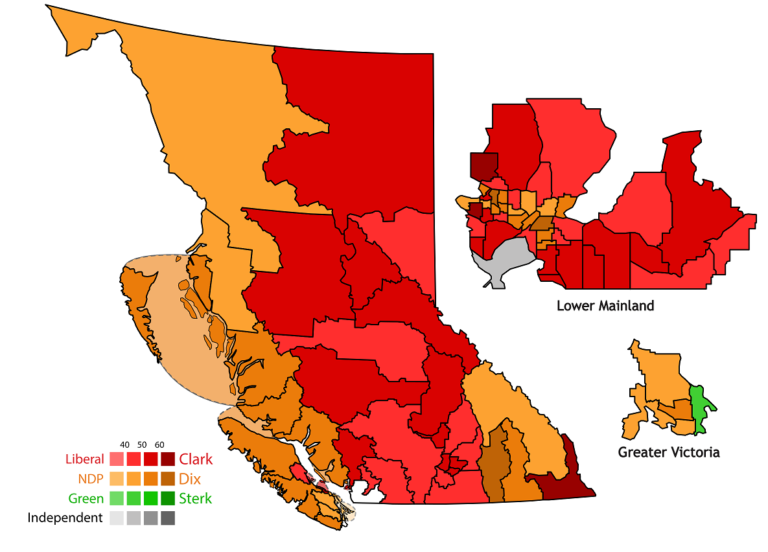 BC's third parties and the election