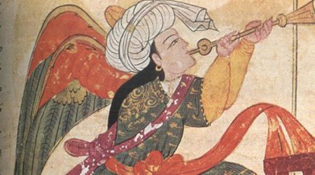 Angel in Islamic painting