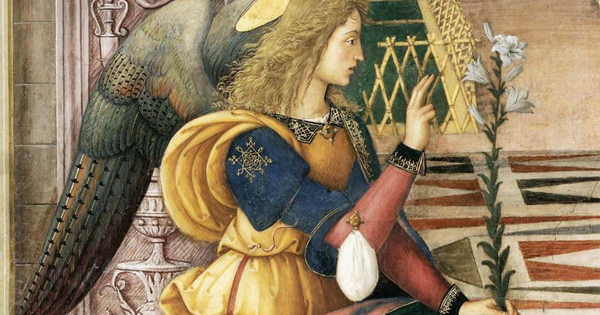 The Angel Gabriel as depicted by Bernardino de Betto.
