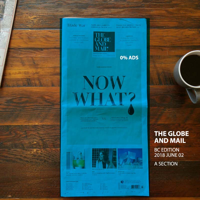 Globe and Mail BC Edition cover